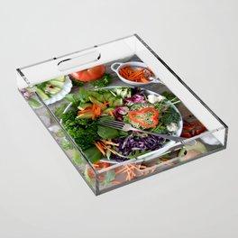 Vegan summer III Acrylic Tray