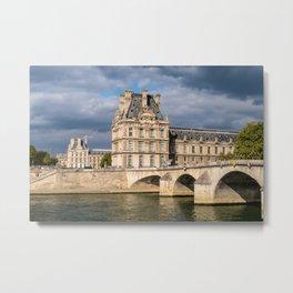 Pont Royal and Palais du Louvre - Paris Metal Print