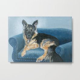 German Shepherd Angus Metal Print