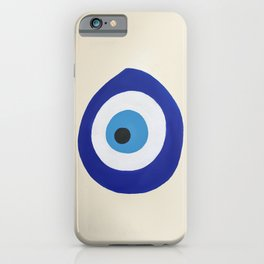 Blue Evil Eye iPhone Case