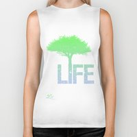 gradient Biker Tanks featuring LIFE! Gradient by Brandon sawyer