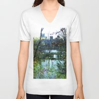 central park V-neck T-shirts featuring Central Park  by aLovelyNotion