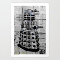 dalek Art Prints featuring Dalek by LouiJoverArt