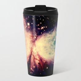 Coral Teal A Star is Born Nebula Travel Mug