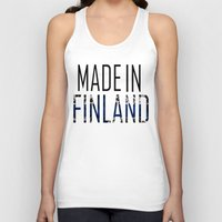 finland Tank Tops featuring Made In Finland by VirgoSpice