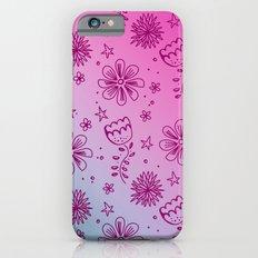 Summer Flower pattern Slim Case iPhone 6s