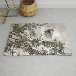 Fly-away Tufted Titmouse Rug