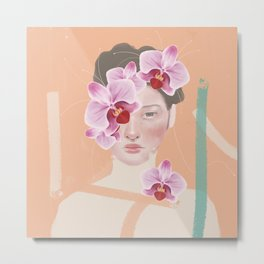 An Orchid Obsession Metal Print