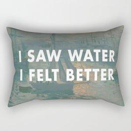 I Saw Water x French Sunrise Rectangular Pillow