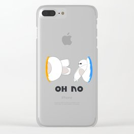 Oh No Baymax failed teleport Clear iPhone Case