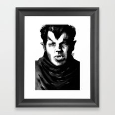 The Stalking Being, Half-Human, Half-Beast Framed Art Print