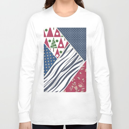 Abstract pattern .Textile patchwork patchwork . Long Sleeve T-shirt
