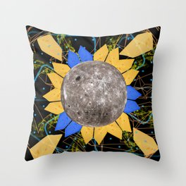 Slices of Moon Cheese Throw Pillow