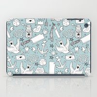 old school iPad Cases featuring Old School by naidl