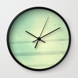 Horizontal Lines in the air Wall Clock