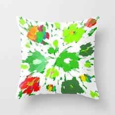 Watercolor Pop Art Throw Pillow
