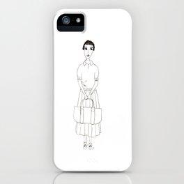 girl in white iPhone Case