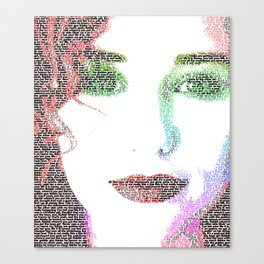 Tori Amos - word portrait Canvas Print