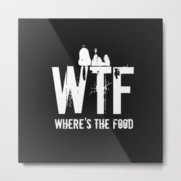 wtf snoopy - where is the food Metal Print