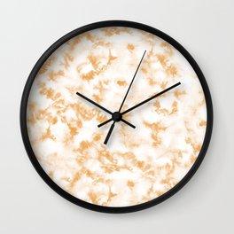 Golden Apricot Tie Dye by Erin Kendal Wall Clock