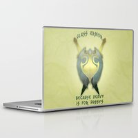 skyrim Laptop & iPad Skins featuring Skyrim: Glass Armor by Chubbybuddhist