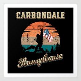 Carbondale Pennsylvania Art Print