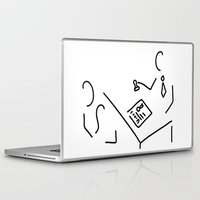 lawyer Laptop & iPad Skins featuring notary public lawyer by Lineamentum