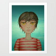 A boy Art Print