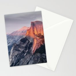 Sunset in Yosemite National Park, North America from Glacier Point  view Stationery Cards