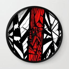 Red Depth Wall Clock