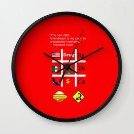 28th Amendment Wall Clock