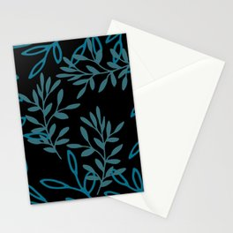 Leafy Teal Stationery Cards