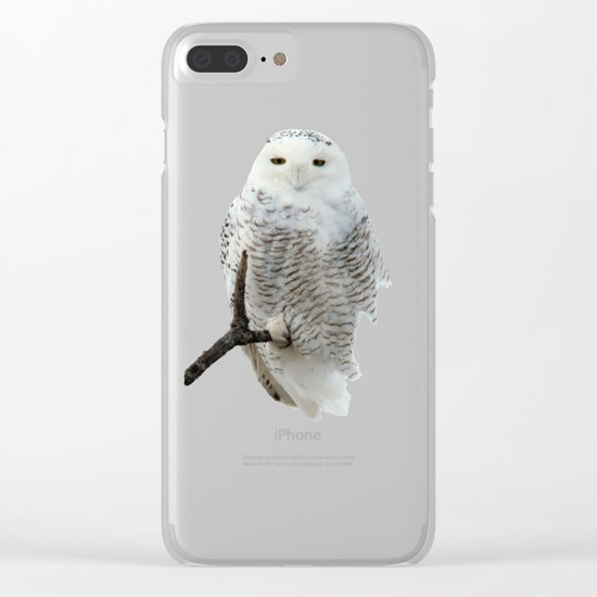 Snowy in the Wind (Snowy Owl) Clear iPhone Case