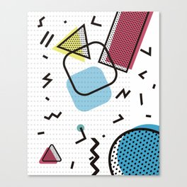 Modernistic abstract shape pattern texture Canvas Print
