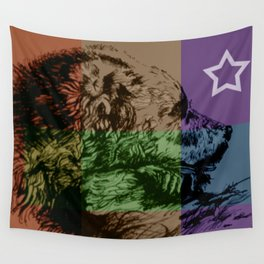 Bear Country Flag Wall Tapestry