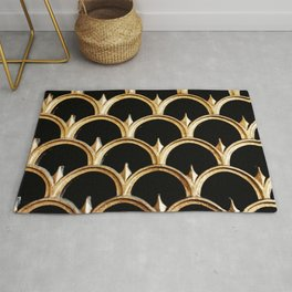 Black & gold- architectural detail at Union Station in Washington DC Rug