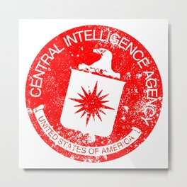 CIA Rubber Stamp Metal Print