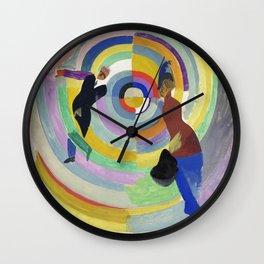 "Robert Delaunay ""Political Drama"" Wall Clock"