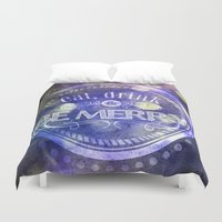 lettering Duvet Covers featuring Lettering II by Merwizaur