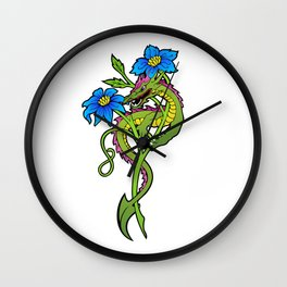 Flower Dragon Wall Clock