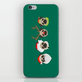 Christmas Pugs iPhone Skin