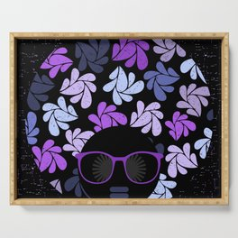 Afro Diva Purple Serving Tray