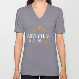 Adventure Is Out There T-Shirts and Hoodies Unisex V-Neck