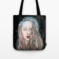 goddess Tote Bags featuring Goddess  by Jenn