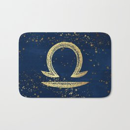 Libra Zodiac Sign Bath Mat