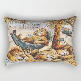 a herd is coming Rectangular Pillow