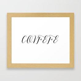 Covfefe in elegant bombshell font Framed Art Print