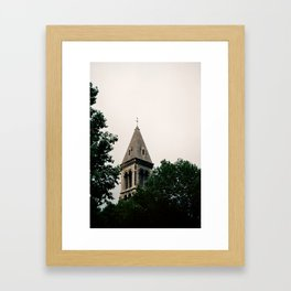 Church Within The Trees Framed Art Print