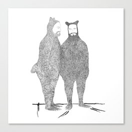 Two Bears Get Married Canvas Print