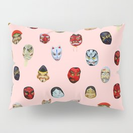 Masks in Asakusa Pillow Sham